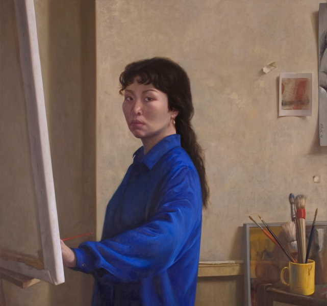 Self Portrait 85x91 cm, 1997