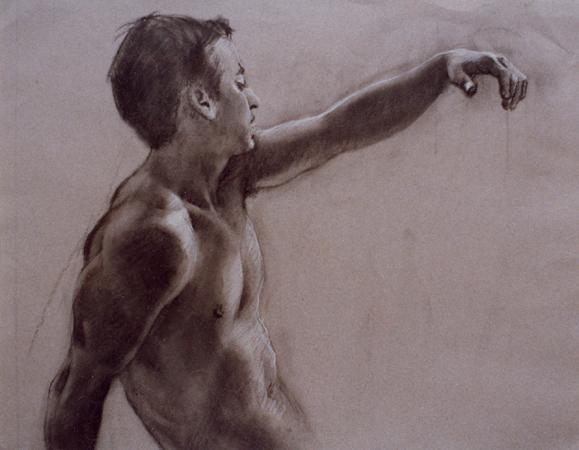 Male Nude 57x70 cm